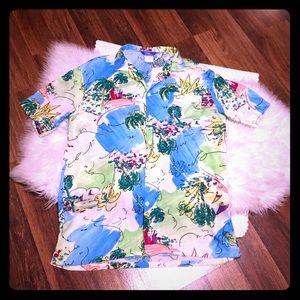 🦋2/$10 3/$15 4/$18 5/$20 Vintage Hawaiian Shirt